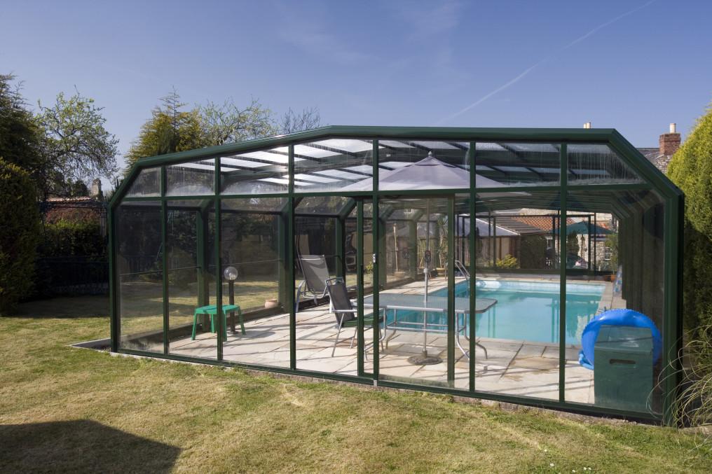 Cloture piscine jardin