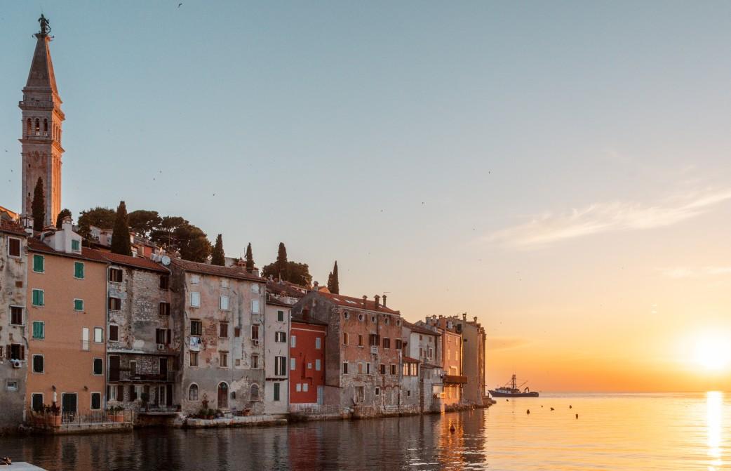 coucher de soleil Rovinj Croatie